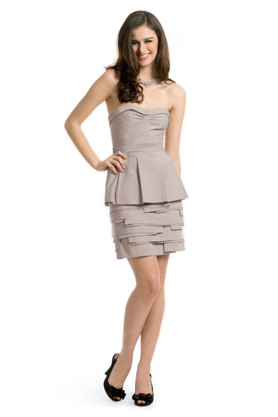 Annika Mauve Dress by BCBGMAXAZRIA