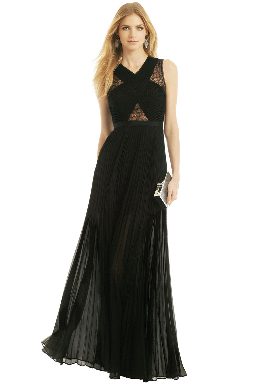 Caia Pleated Gown by BCBGMAXAZRIA
