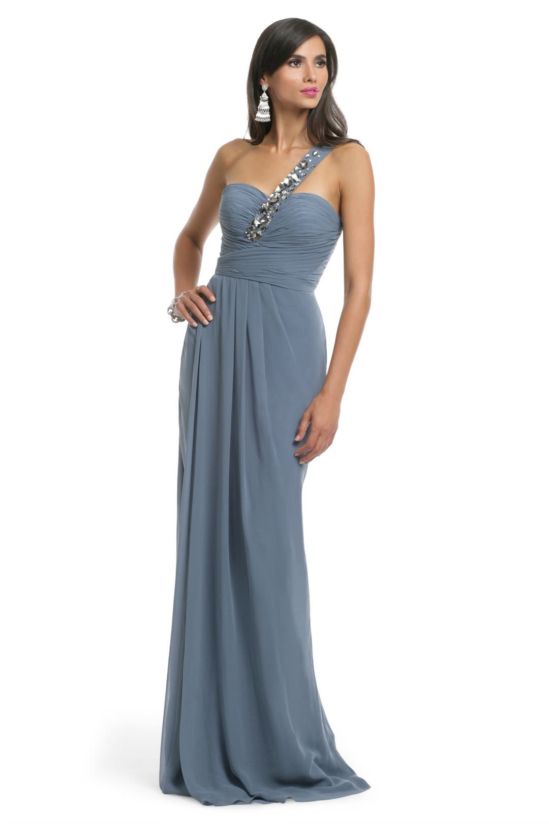 Avio Blue Chiffon Gown by Blugirl