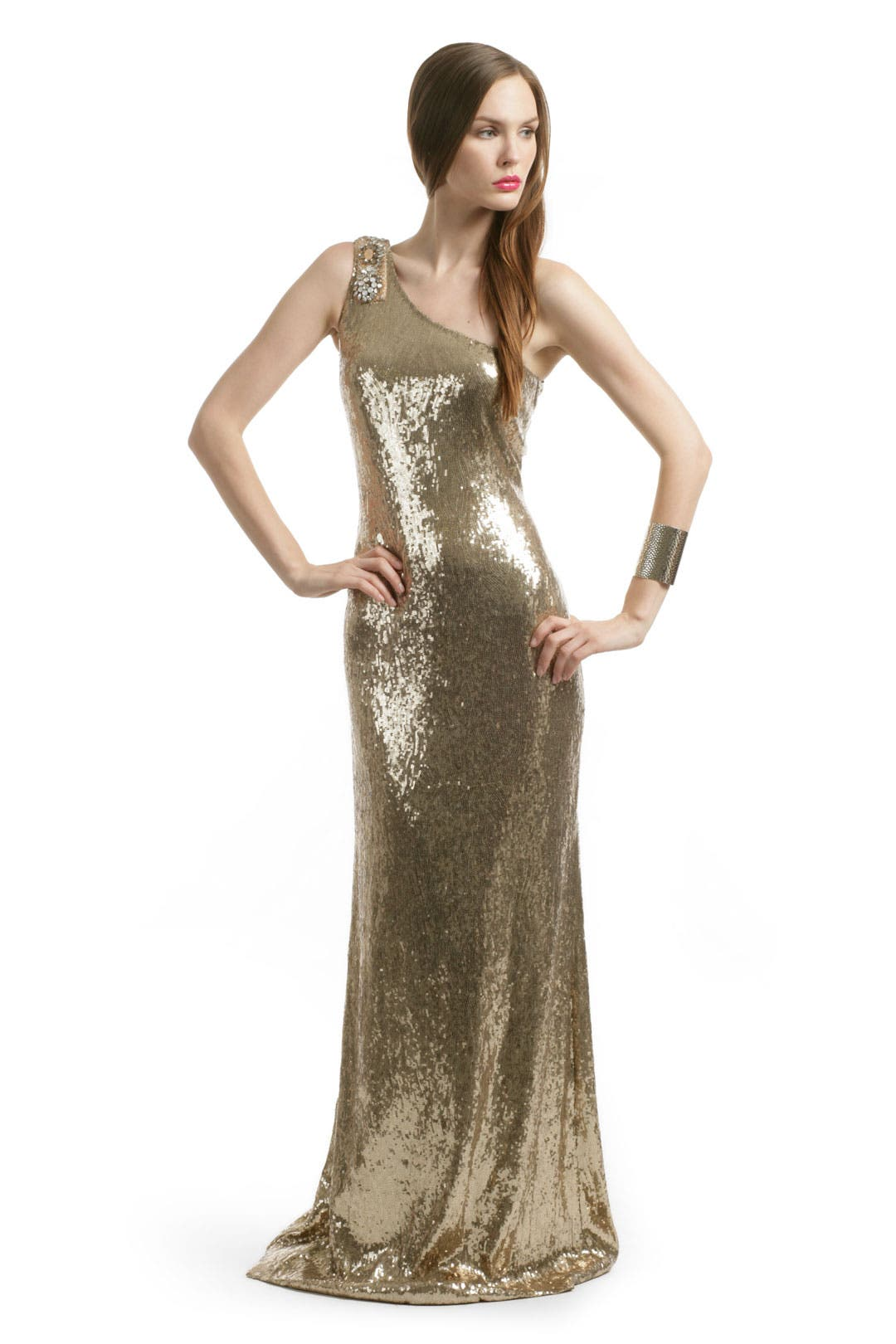 Gold Glam Sequin Gown by Blugirl