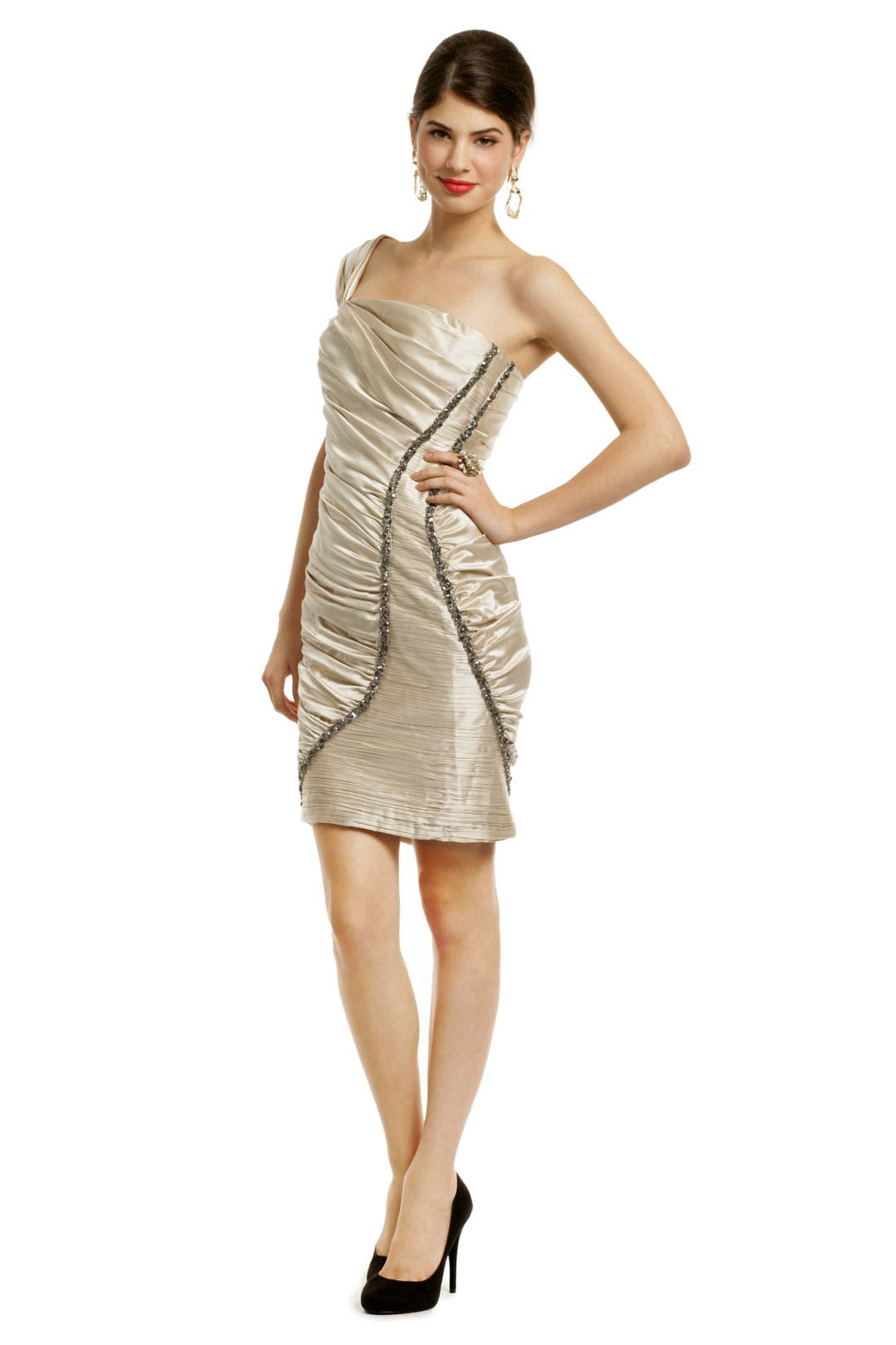 Gold Silk Glamour Dress by Carlos Miele