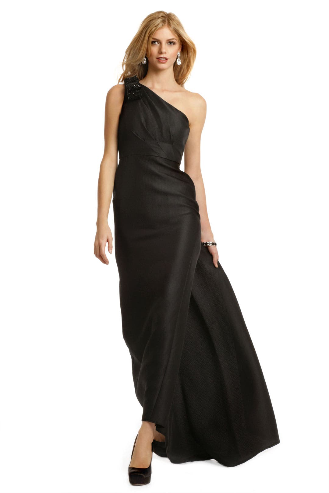 Beaded Bow Power Gown by Carmen Marc Valvo