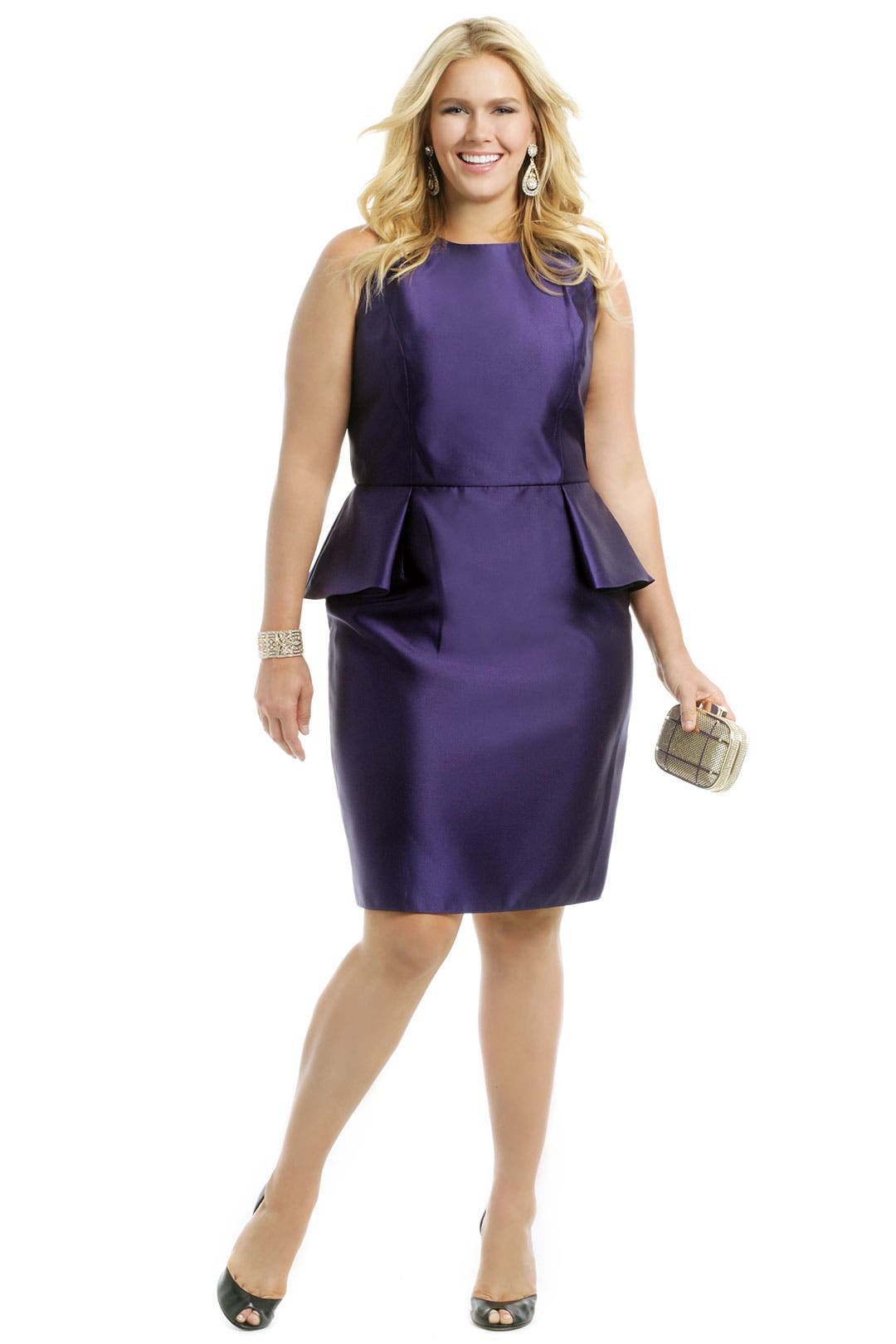 Royal Peplum Dress by Carmen Marc Valvo