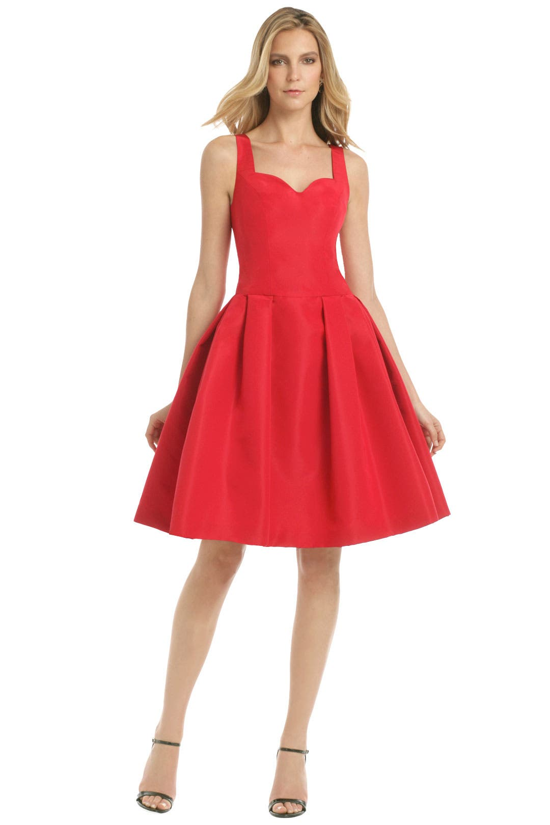 Red Metropolitan Club Dress by Carolina Herrera