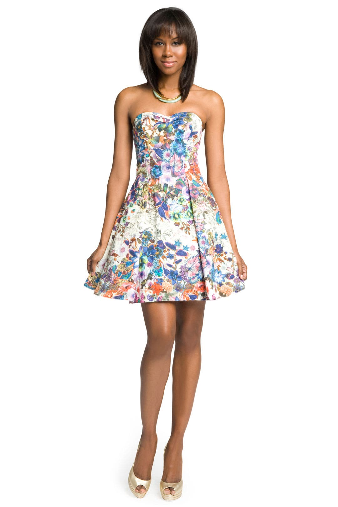 Fanciful Floral Dress by Christian Cota