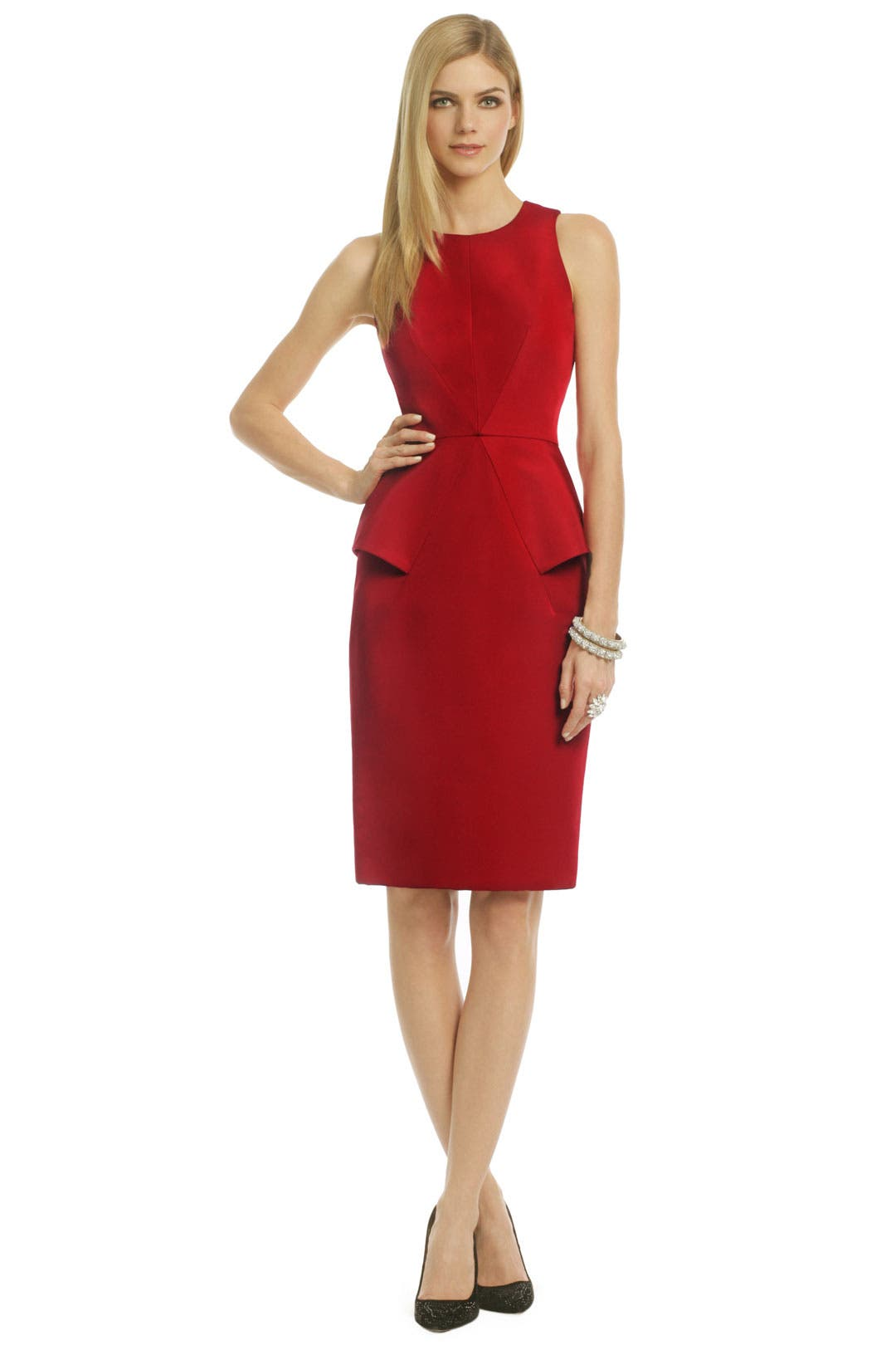 Burning Passion Peplum Dress by Cushnie Et Ochs