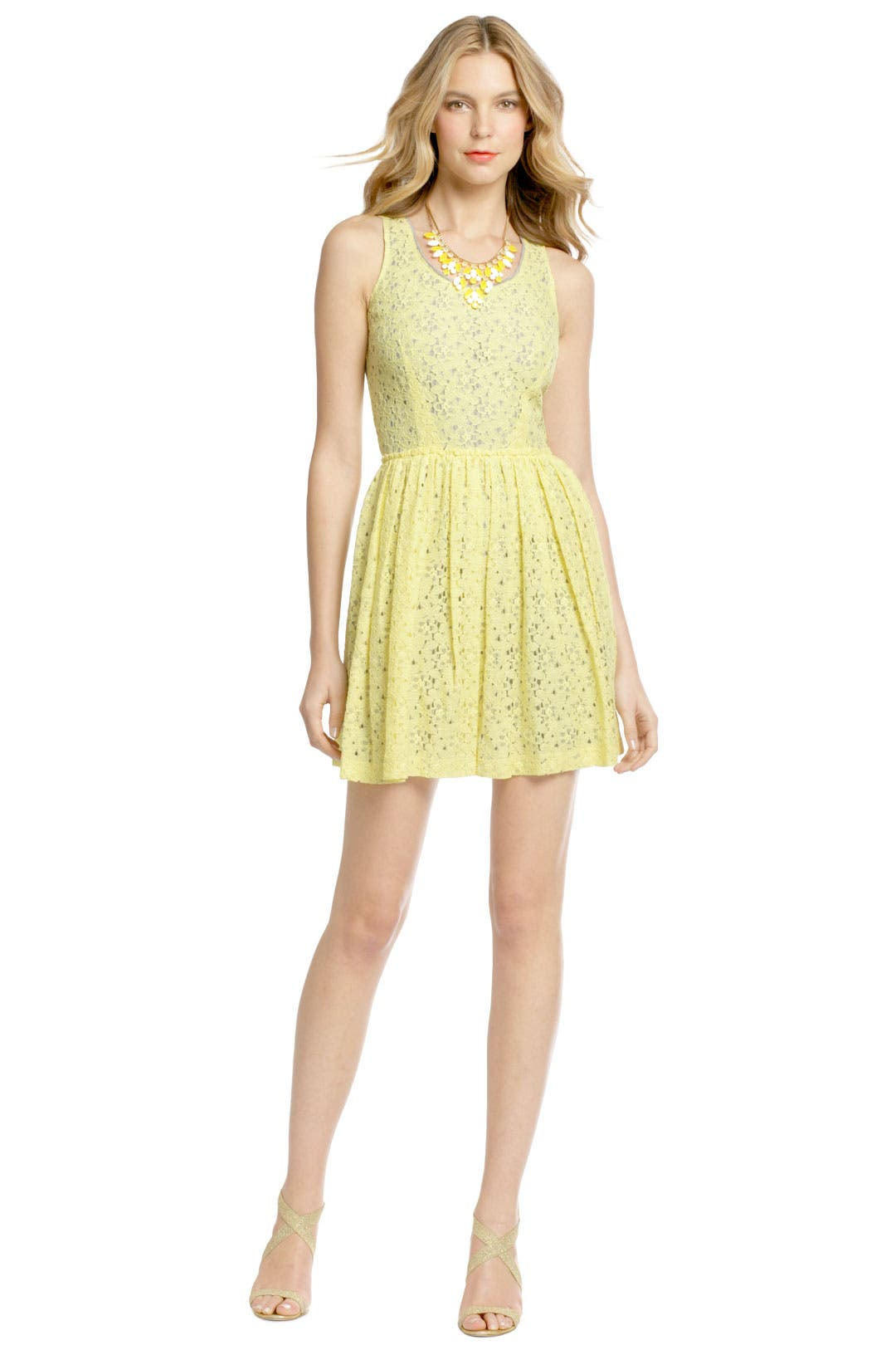 Canary Lace Party Dress by Cut 25