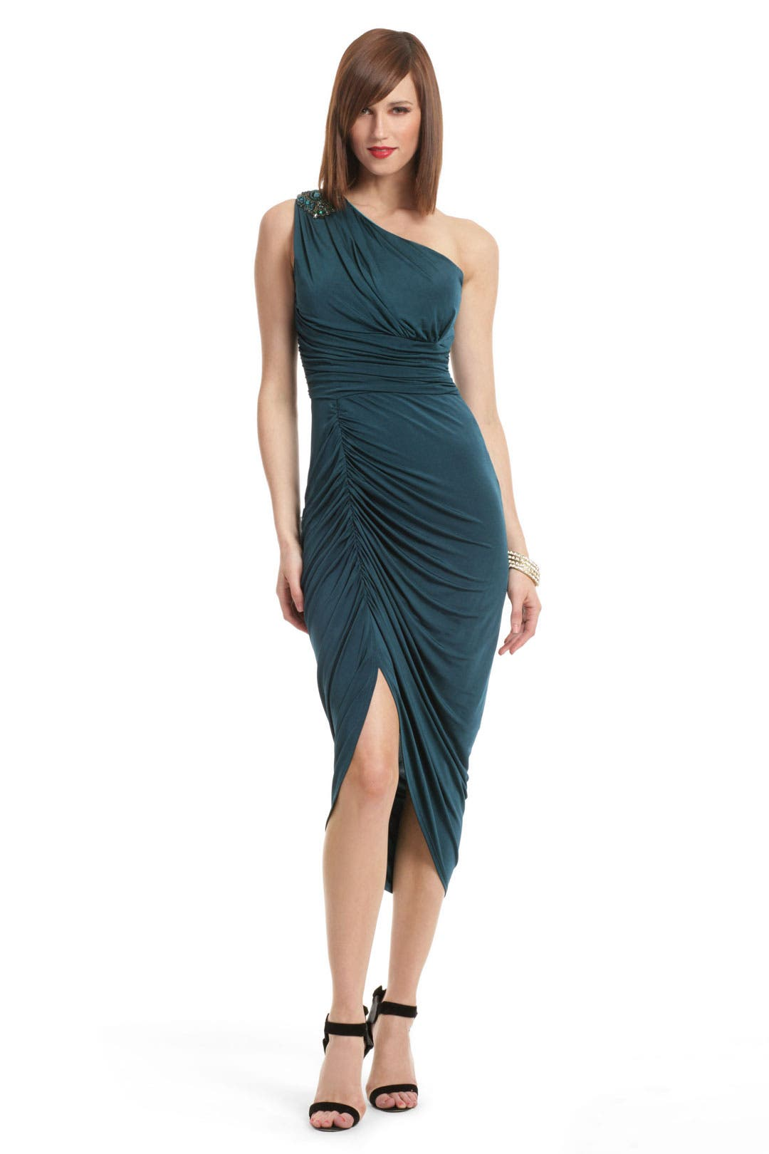 Daring Deep Emerald Dress by David Meister