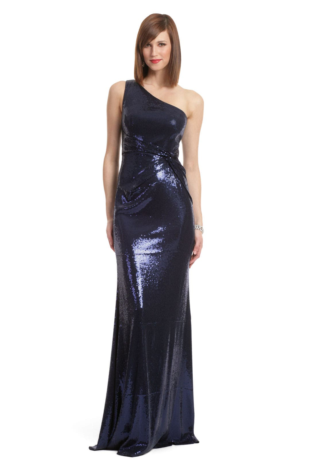 Navy Sequin Sultry Gown by David Meister