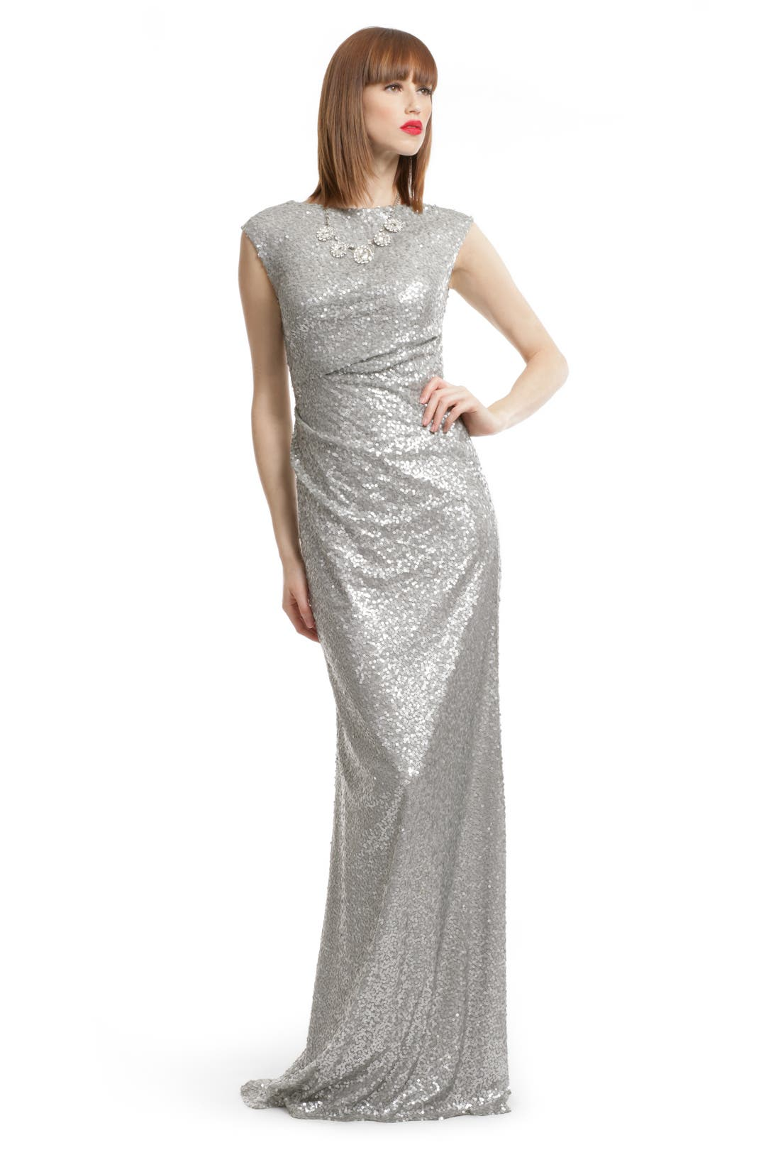 Silver Sequin Shine Gown by David Meister