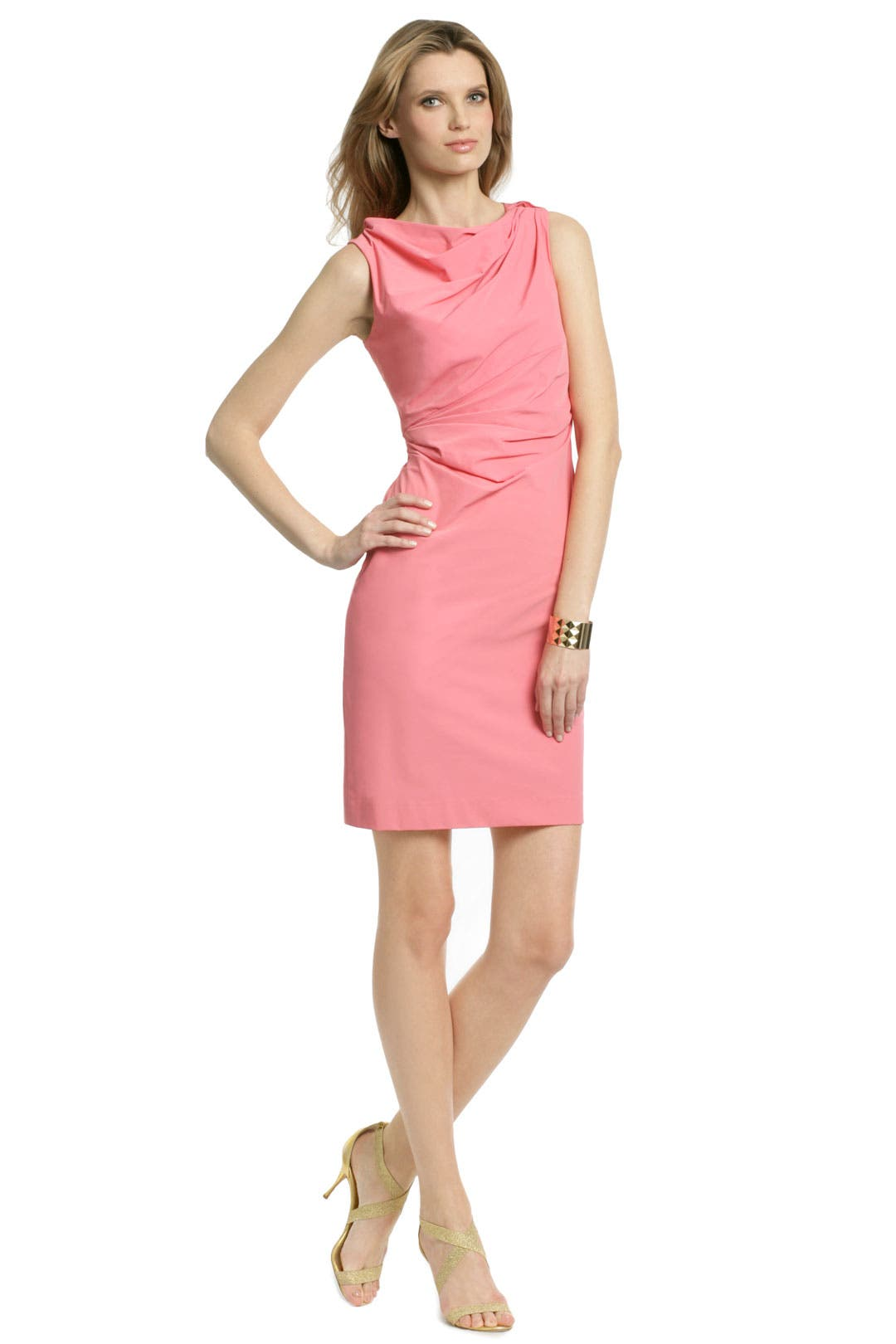 Pink Kiwi Twist Sheath by Diane von Furstenberg