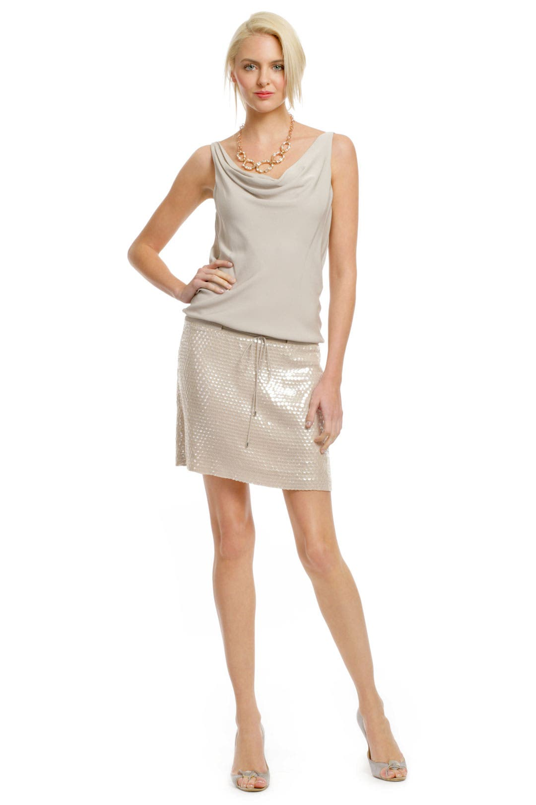 Tadd Sequin Skirt Dress by Diane von Furstenberg