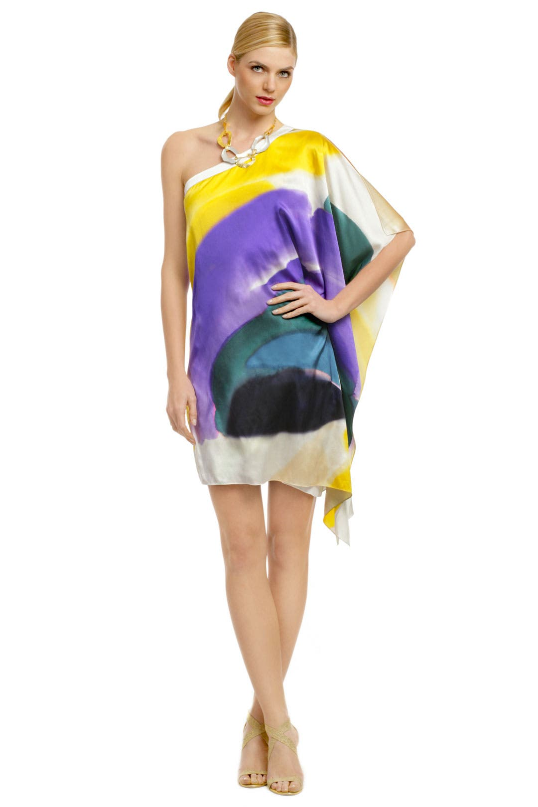 Paint Stroke Poncho Dress by Elie Tahari