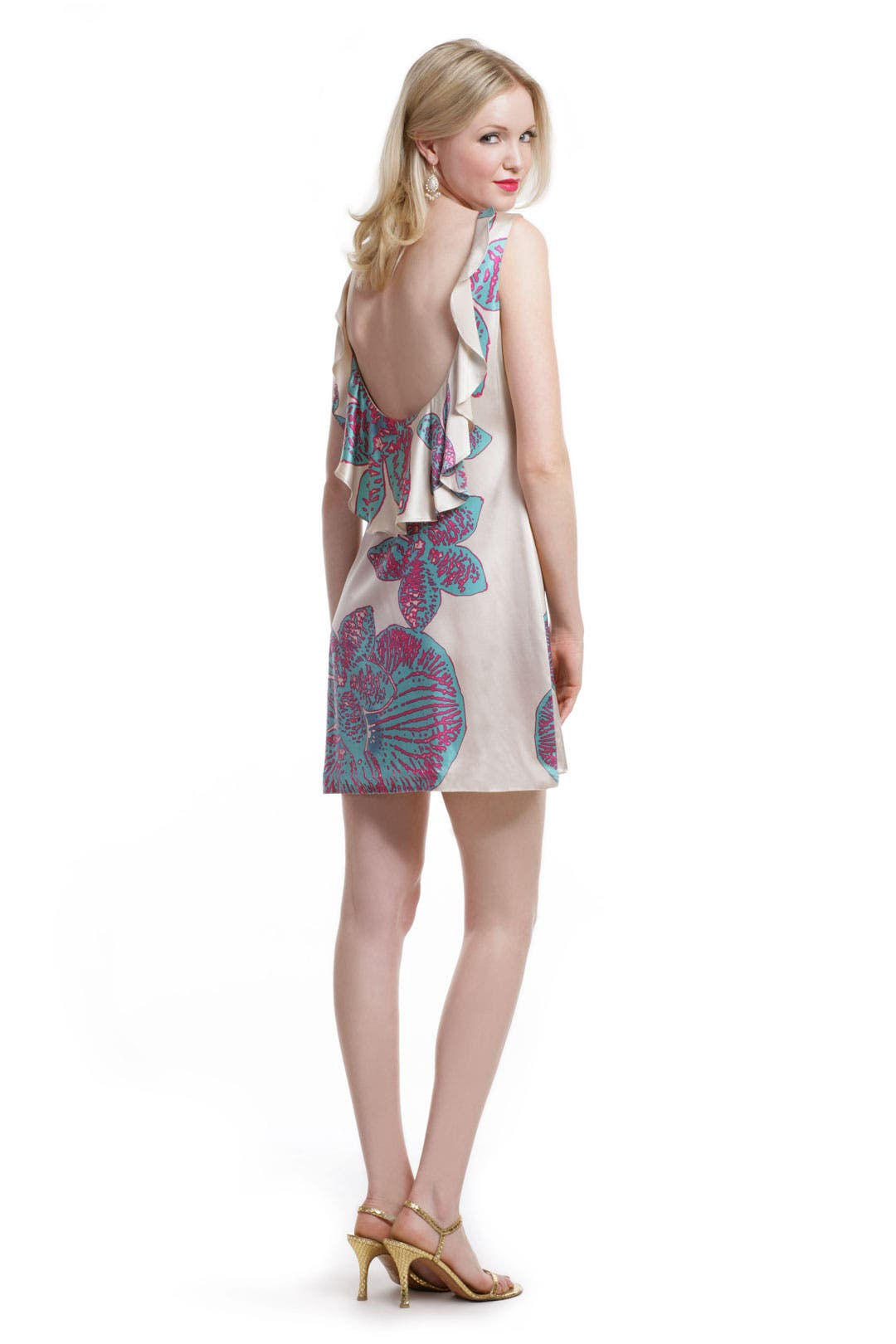 Color Burst Plumeria Dress by Halston Heritage