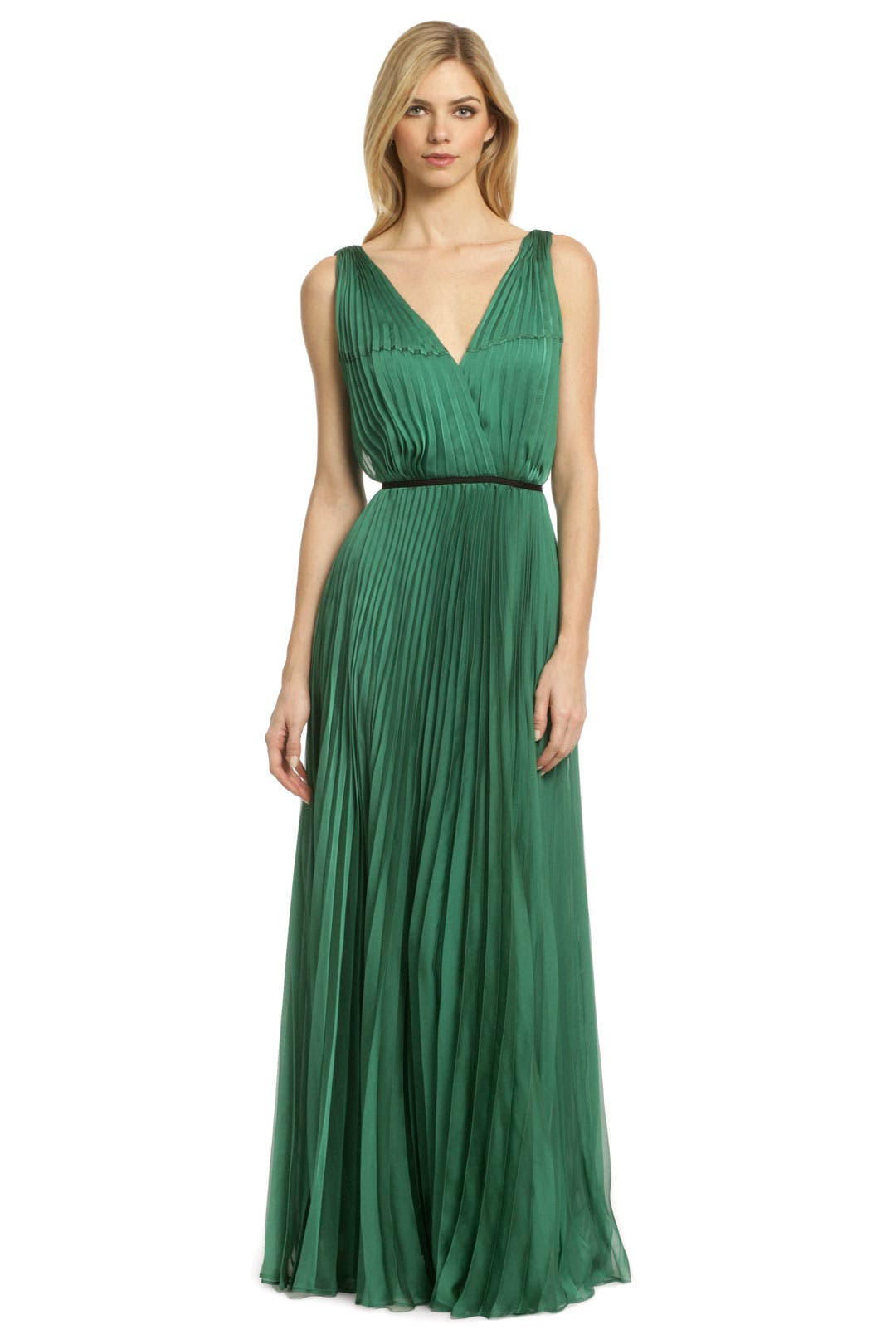 For Evergreen Pleat Gown by Halston Heritage