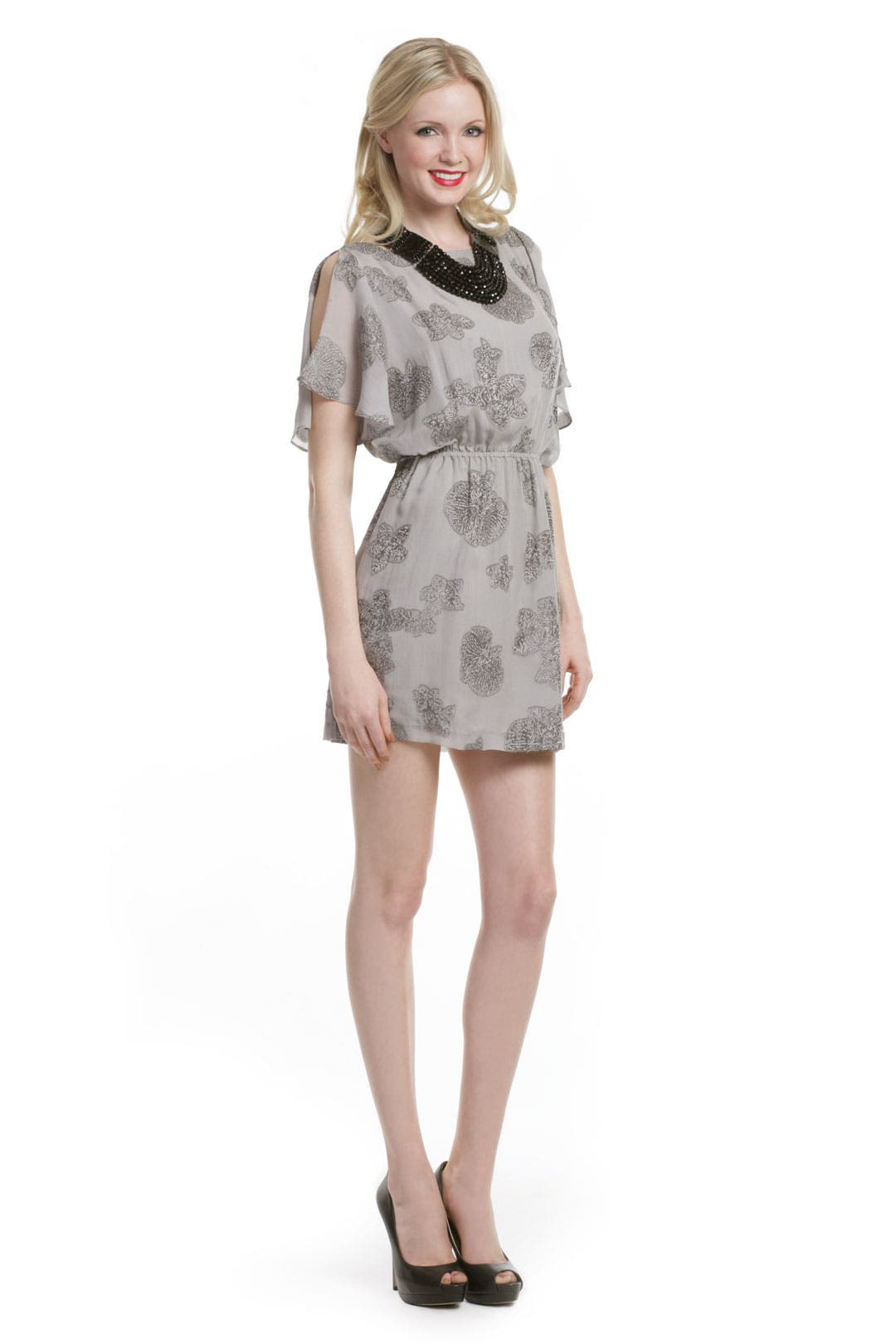 Grey Starfish Dress by Halston Heritage