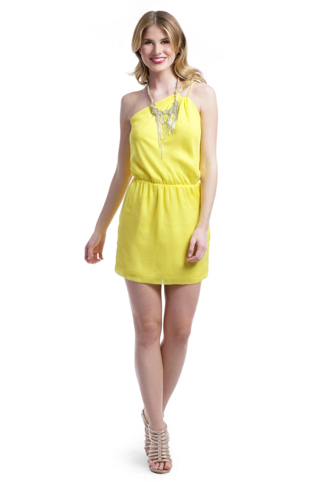 Lemon Popsicle Dress by Halston Heritage