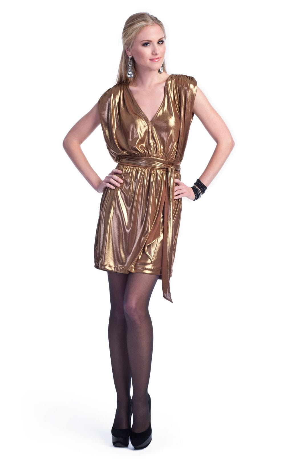 Liquid Gold Dress by Halston Heritage