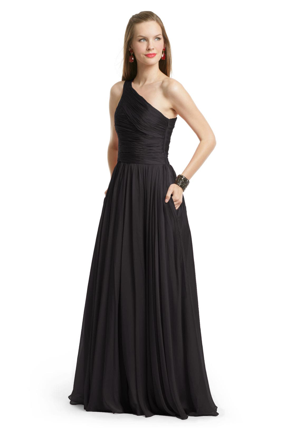 Noir Singapore Sensation Gown by Halston Heritage