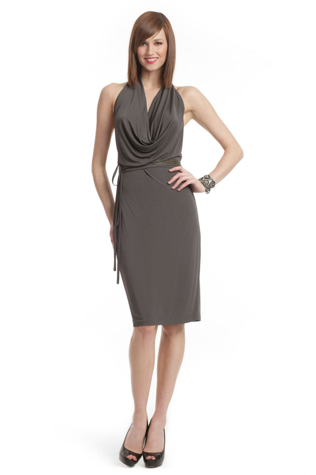 Graphite Chain Belt Dress by Haute Hippie
