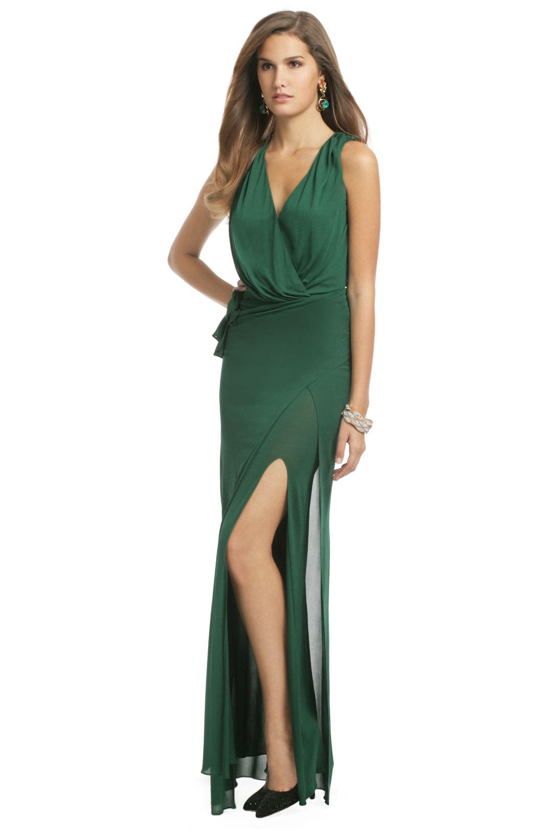 Wrap Around Me Gown by Haute Hippie