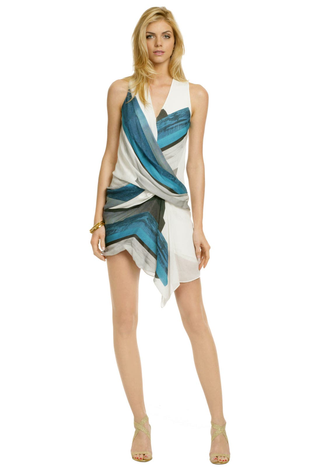 Blue Sea Tetra Dress by Helmut Lang