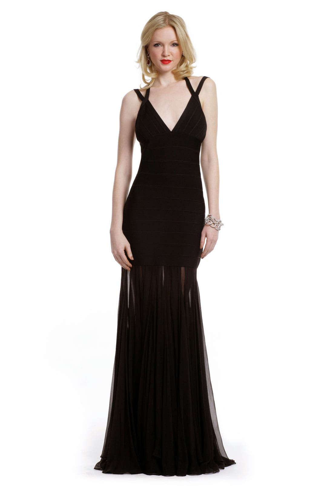 Black Abyss Gown by Hervé Léger