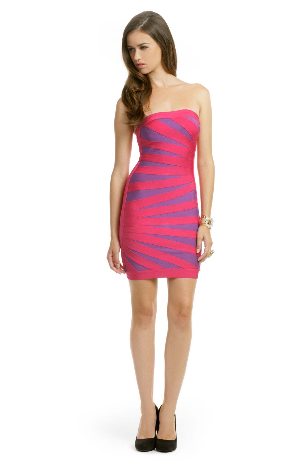 Pink Palm Dress by Hervé Léger