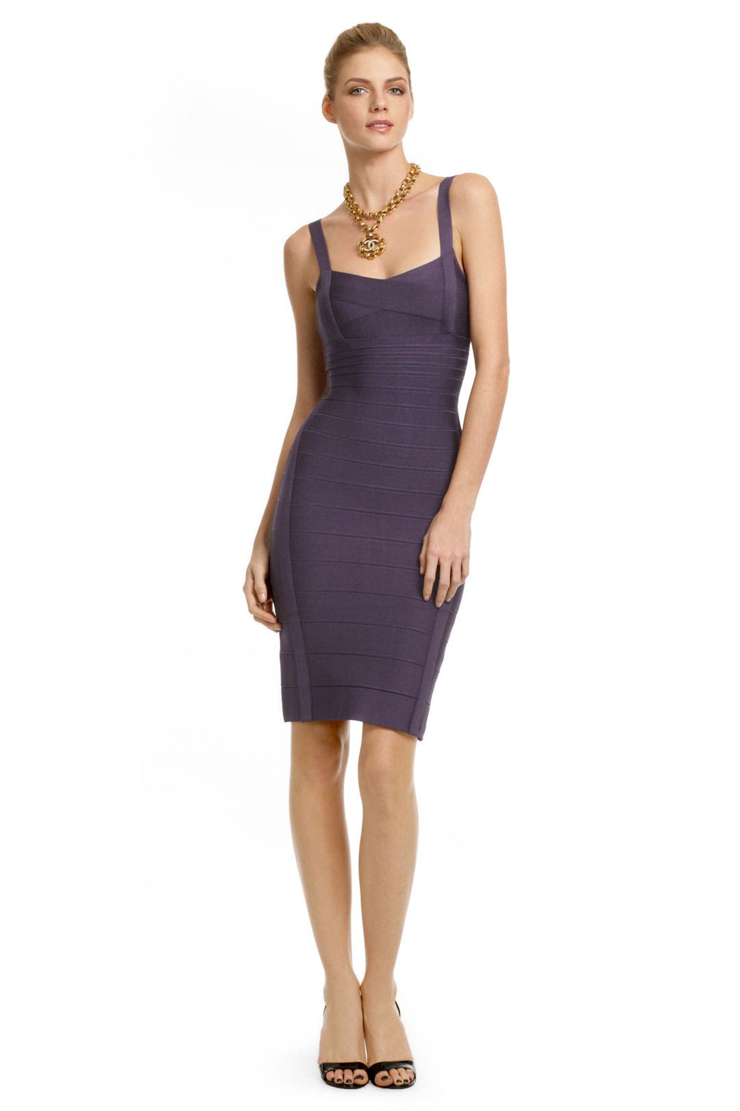 Purple Fusion Sheath by Hervé Léger