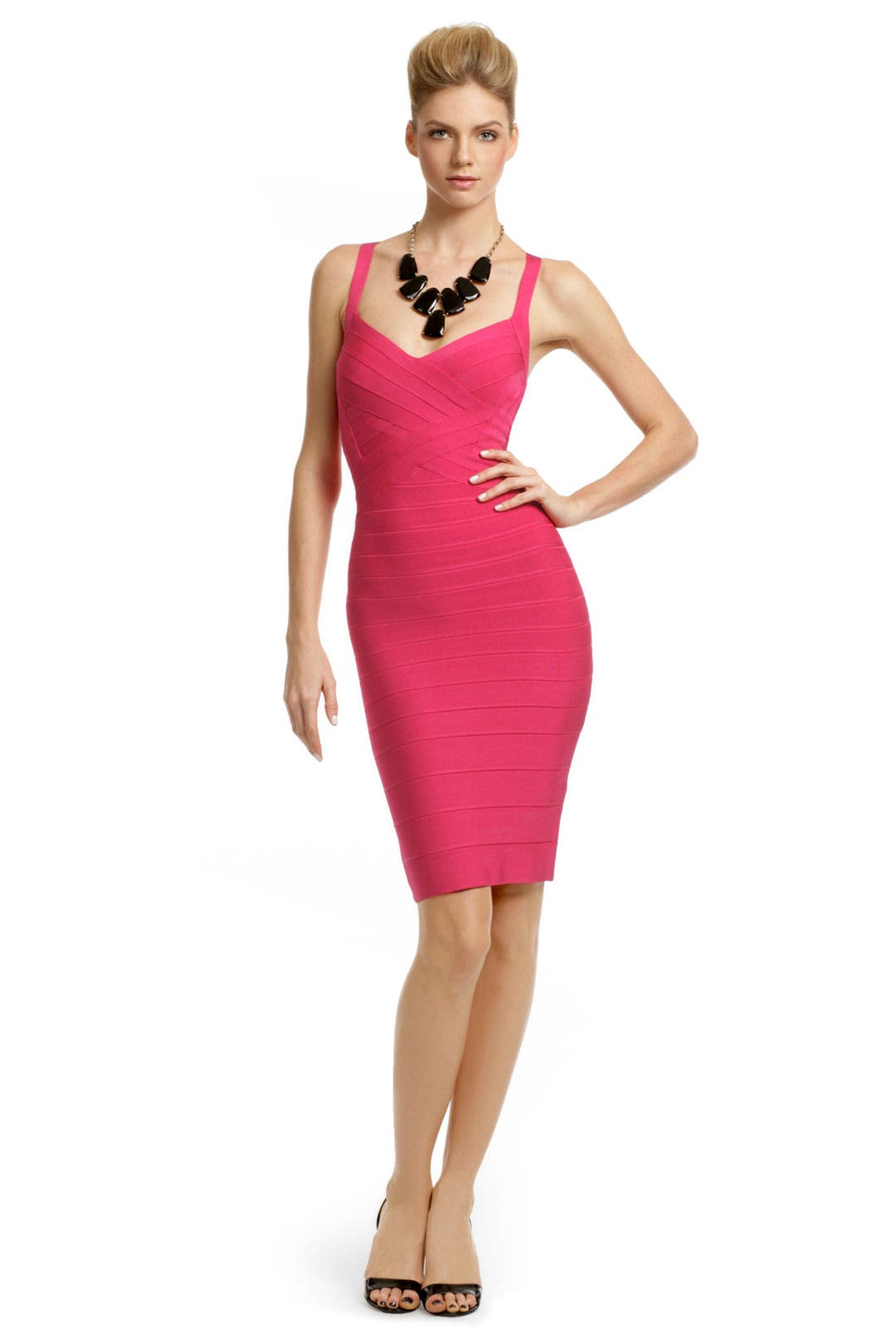 Sun Rose Sheath by Hervé Léger