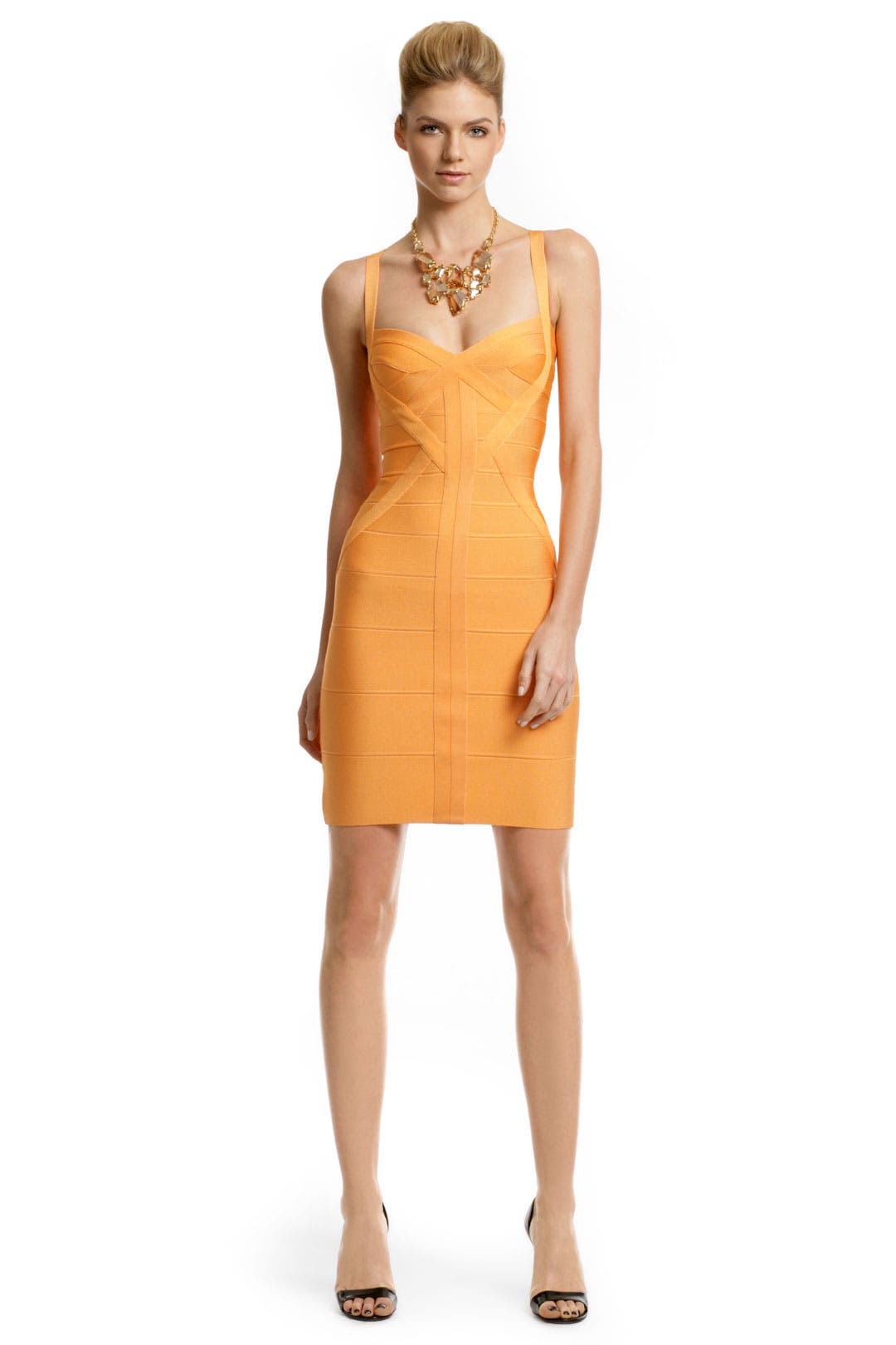 Tangerine Margarita Dress by Hervé Léger