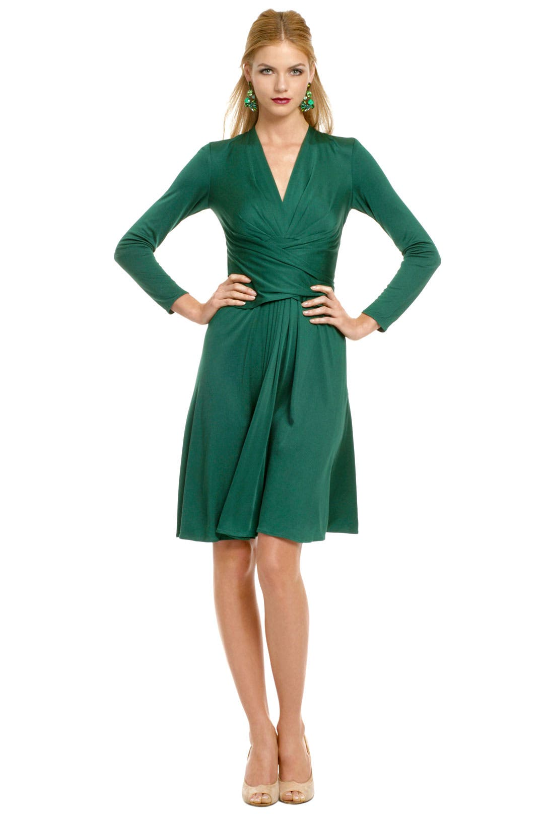 Green Royal Wrap Dress by Issa