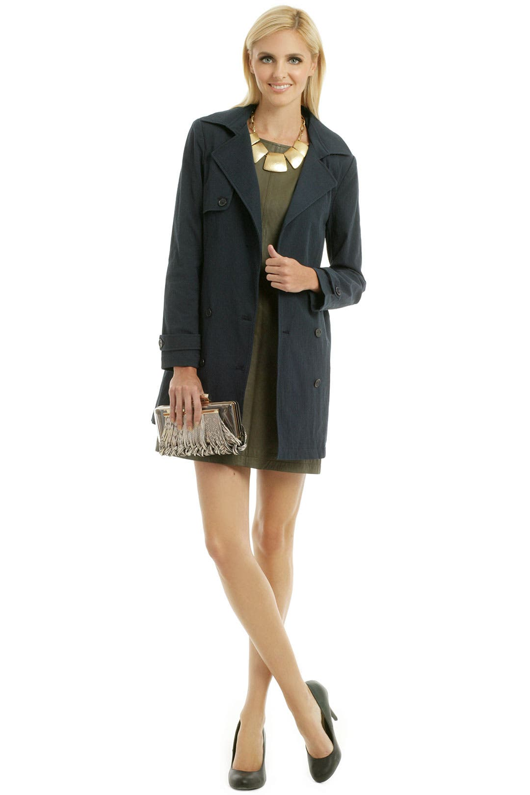 Navy Trench Jacket by Jenni Kayne