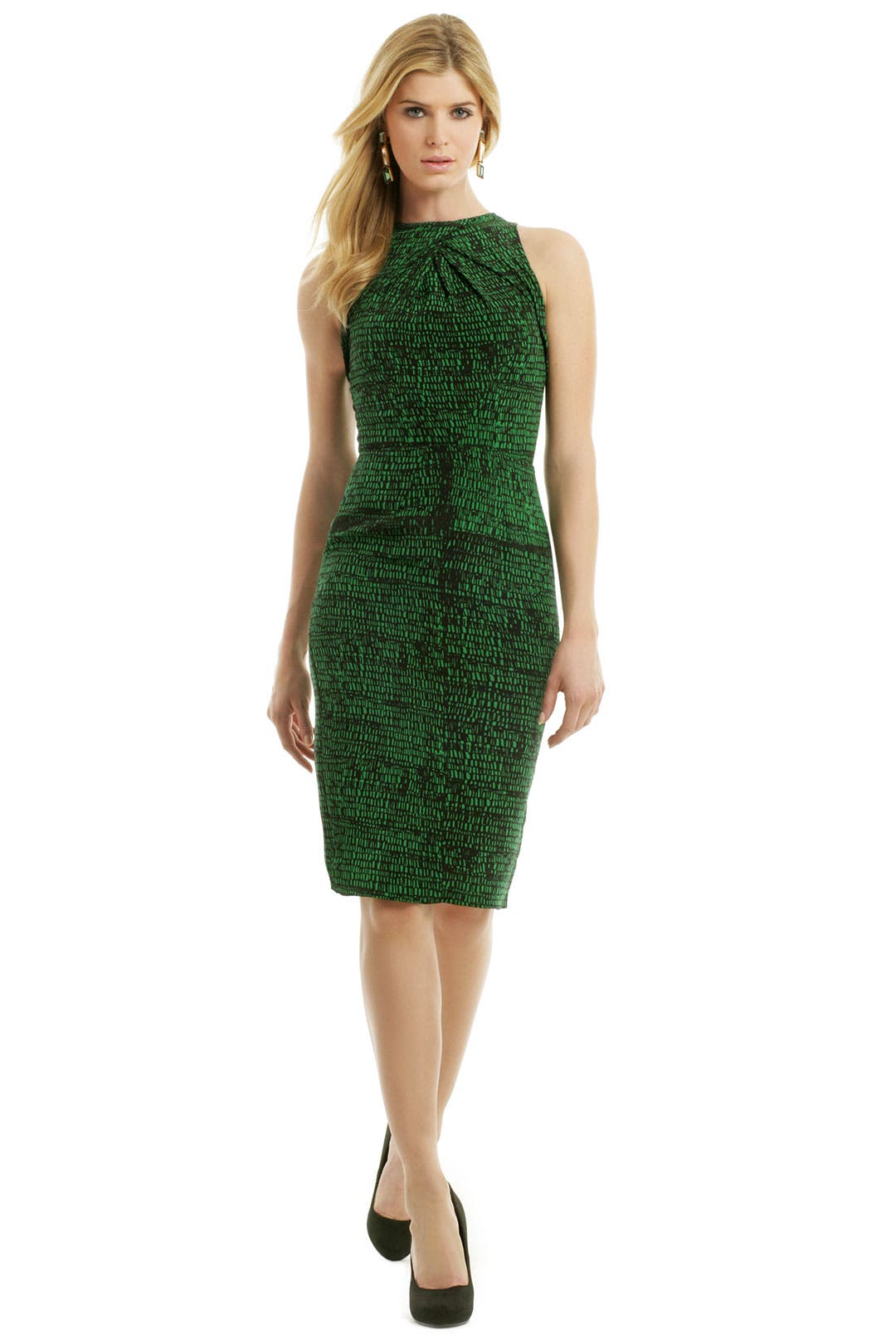 Emerald Chip Print Dress by Juan Carlos Obando