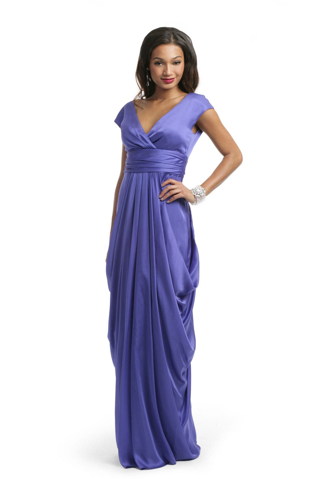 African Violet Draped Gown by Lela Rose