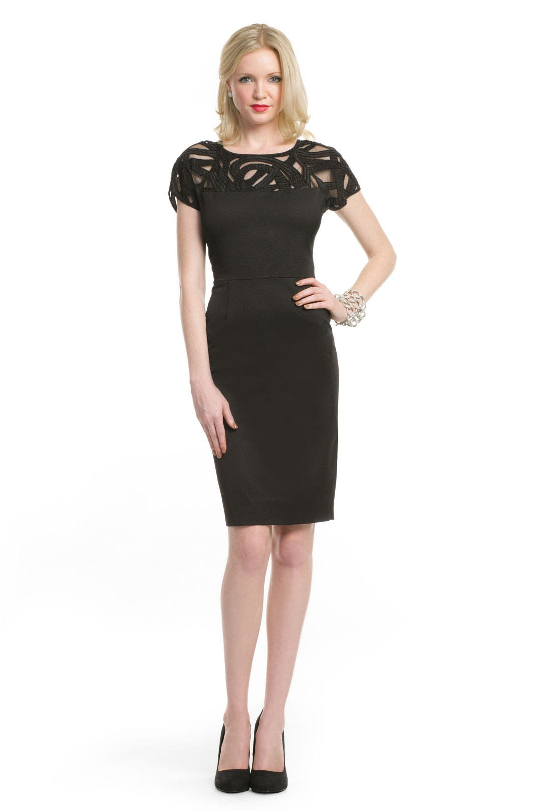 Beaded Swirl Sheath by Lela Rose