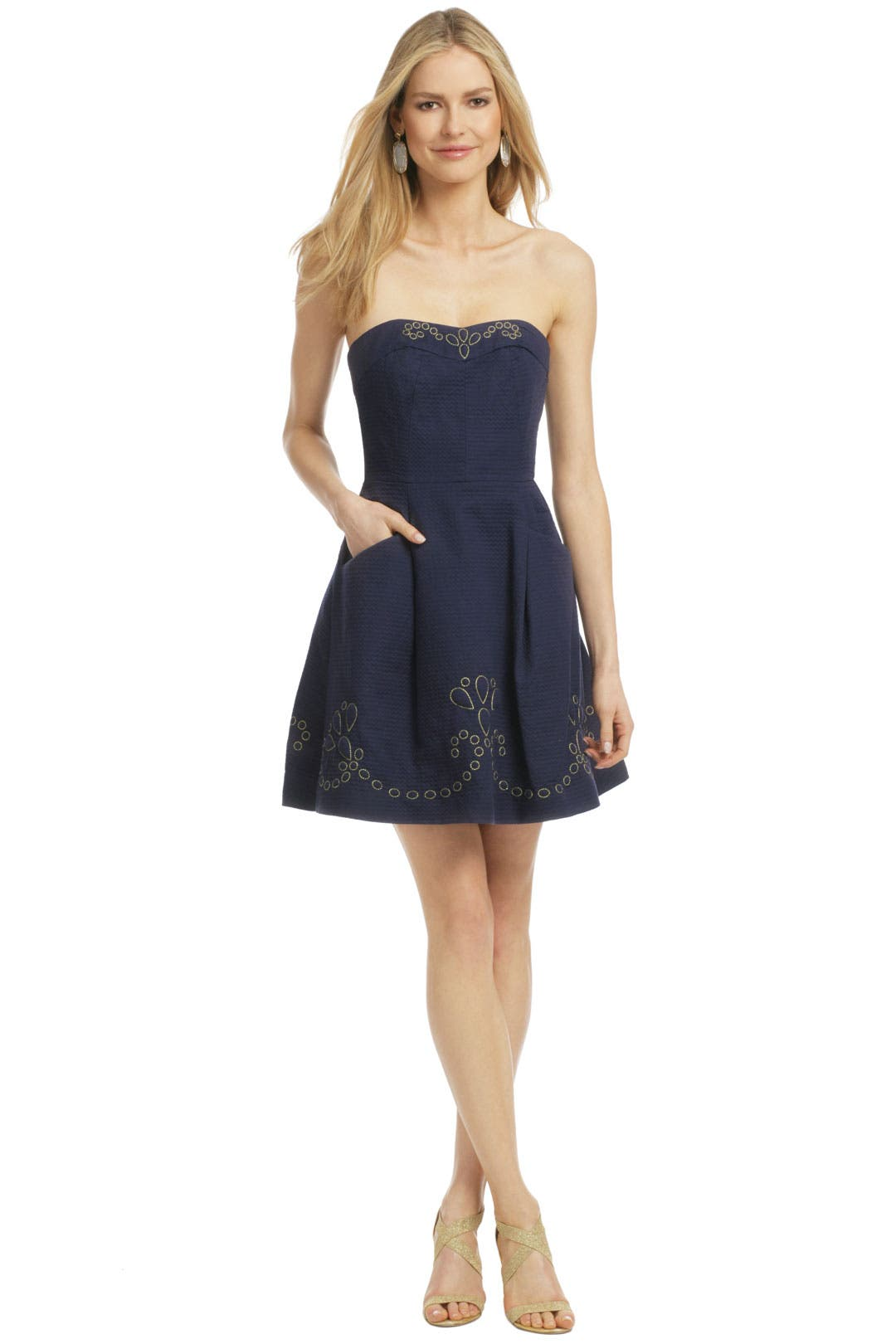 Navy Bernadette Wave Dress by Lilly Pulitzer