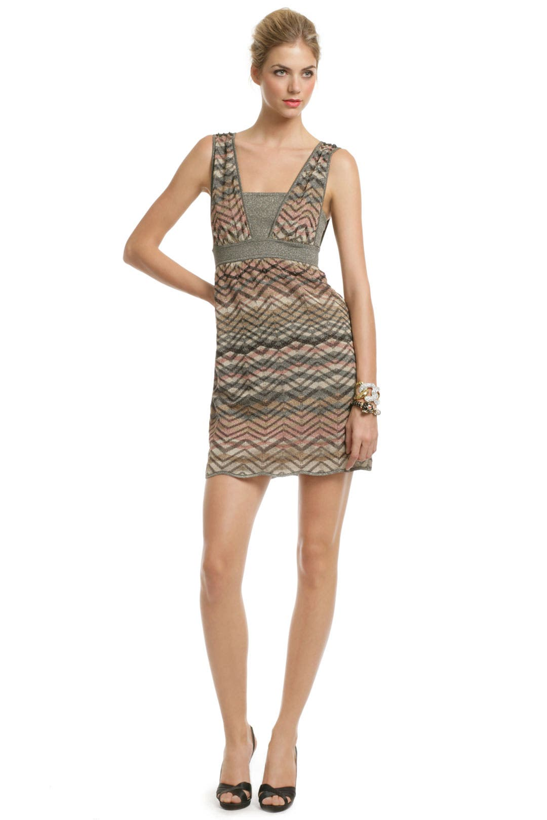 Brass Jersey Zig Dress by M Missoni