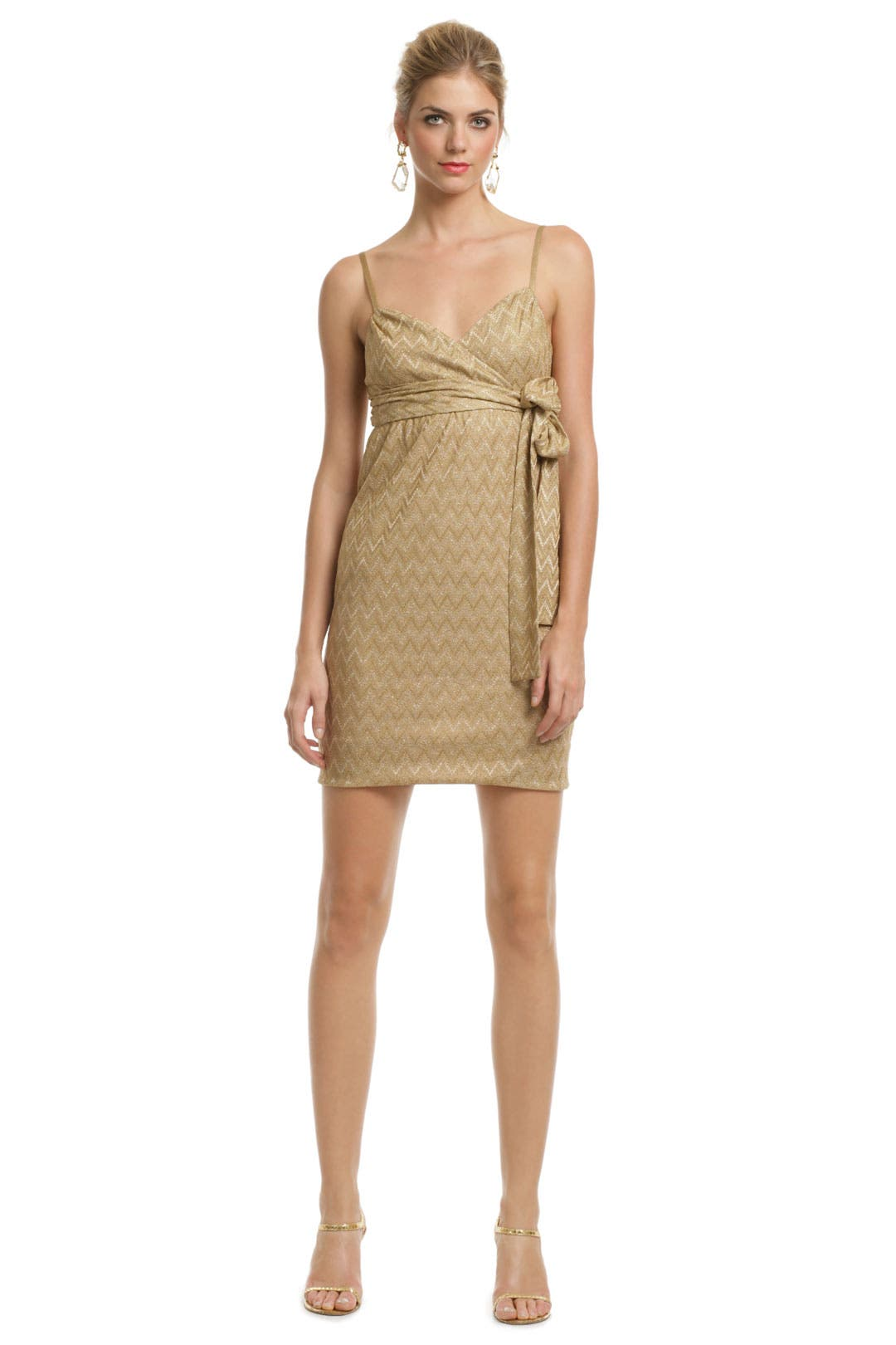 Gold Rosie Knit Dress by M Missoni