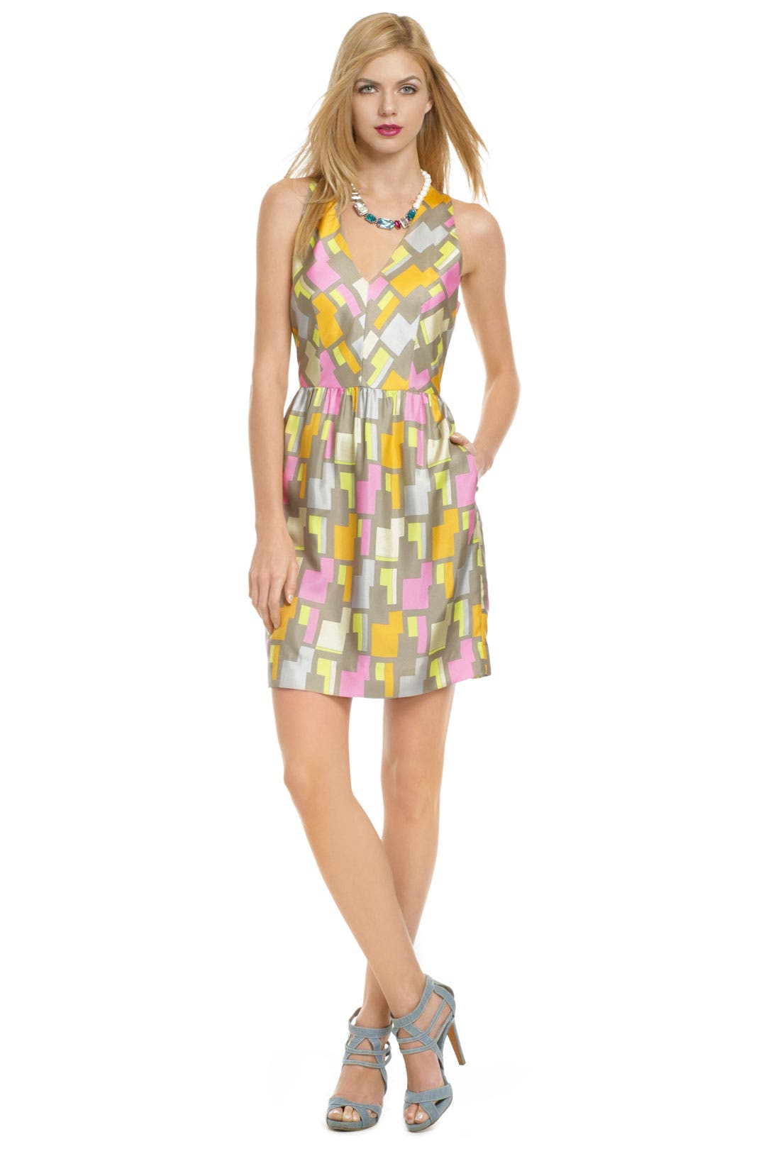 Pastel Block Dress by Milly