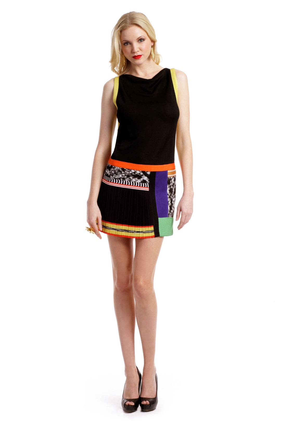 Crazed Colorblock Dress by Missoni