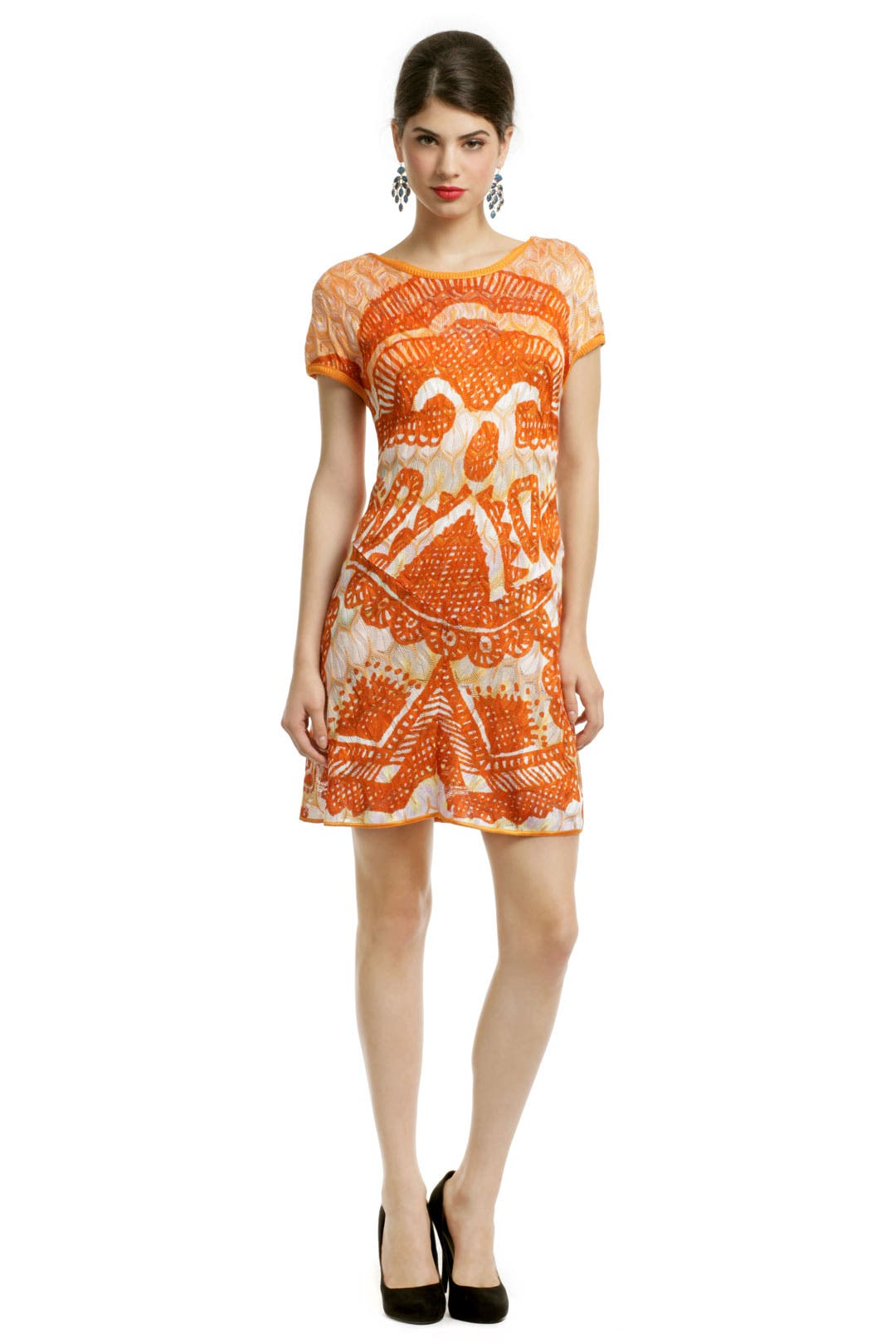 Lara Orange Cap Dress by Missoni