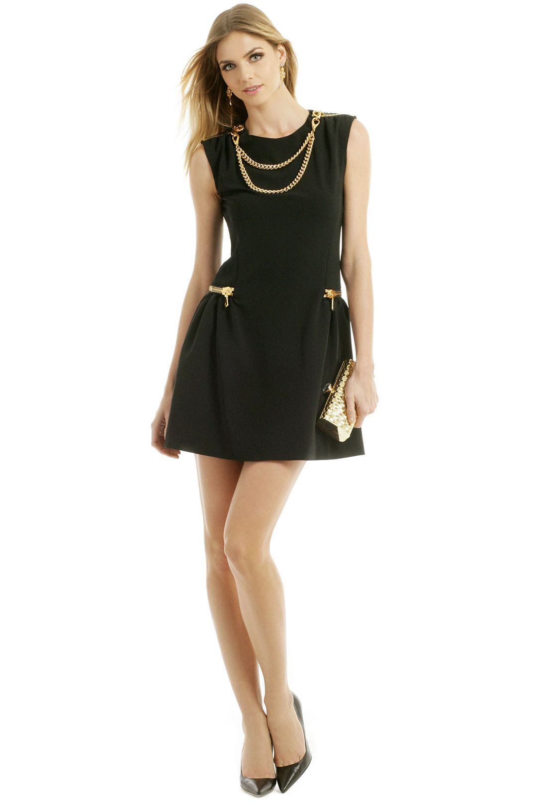 Chain To Zip Dress by Moschino