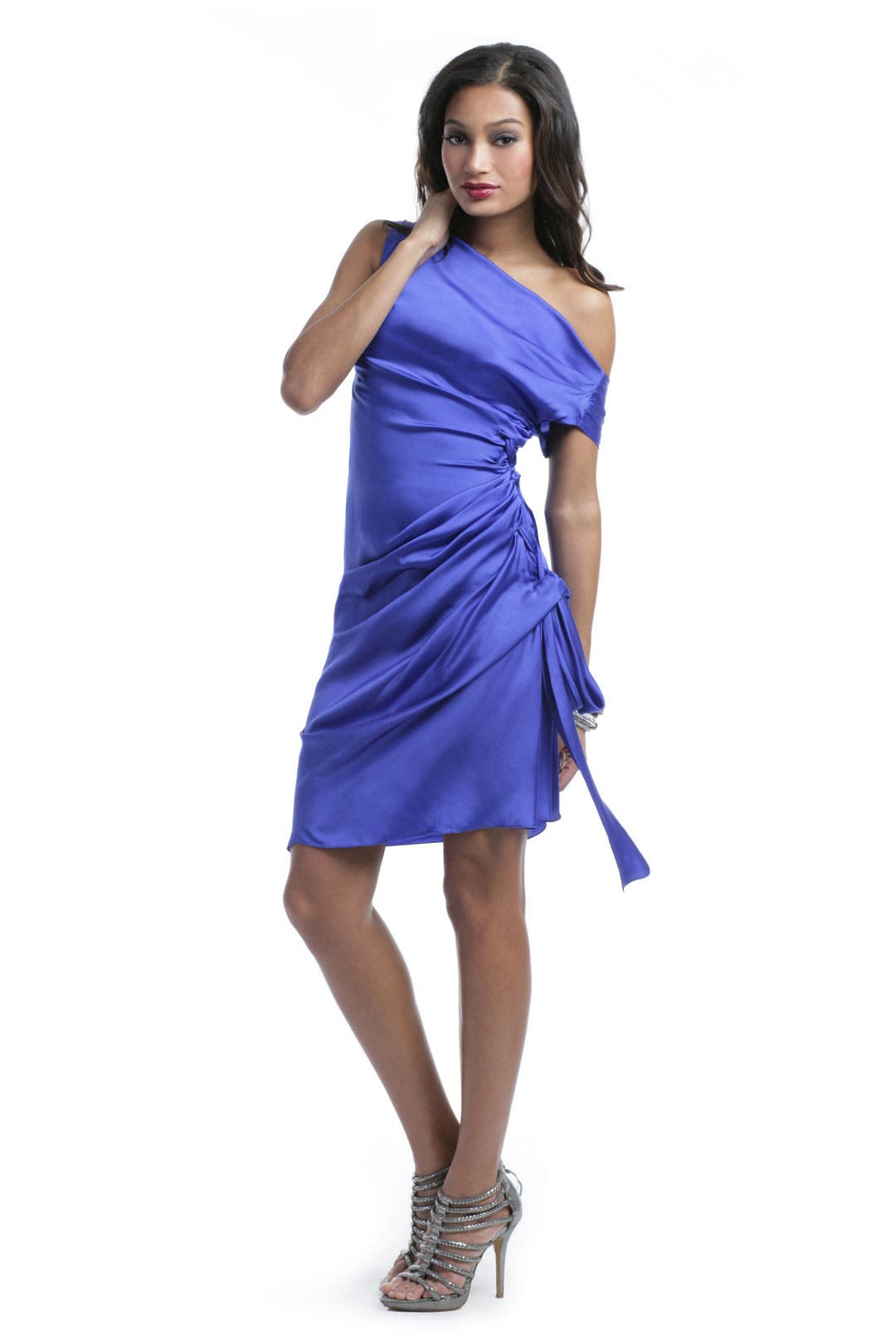 Cobalt Tie Dress by Moschino
