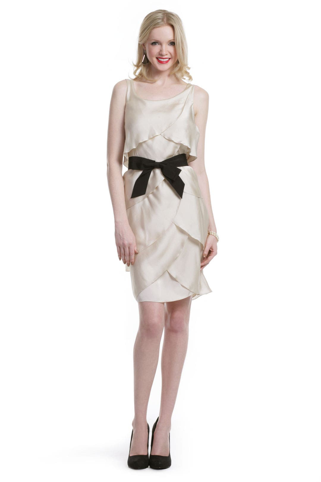 Satin Bow Surprise Dress by Moschino