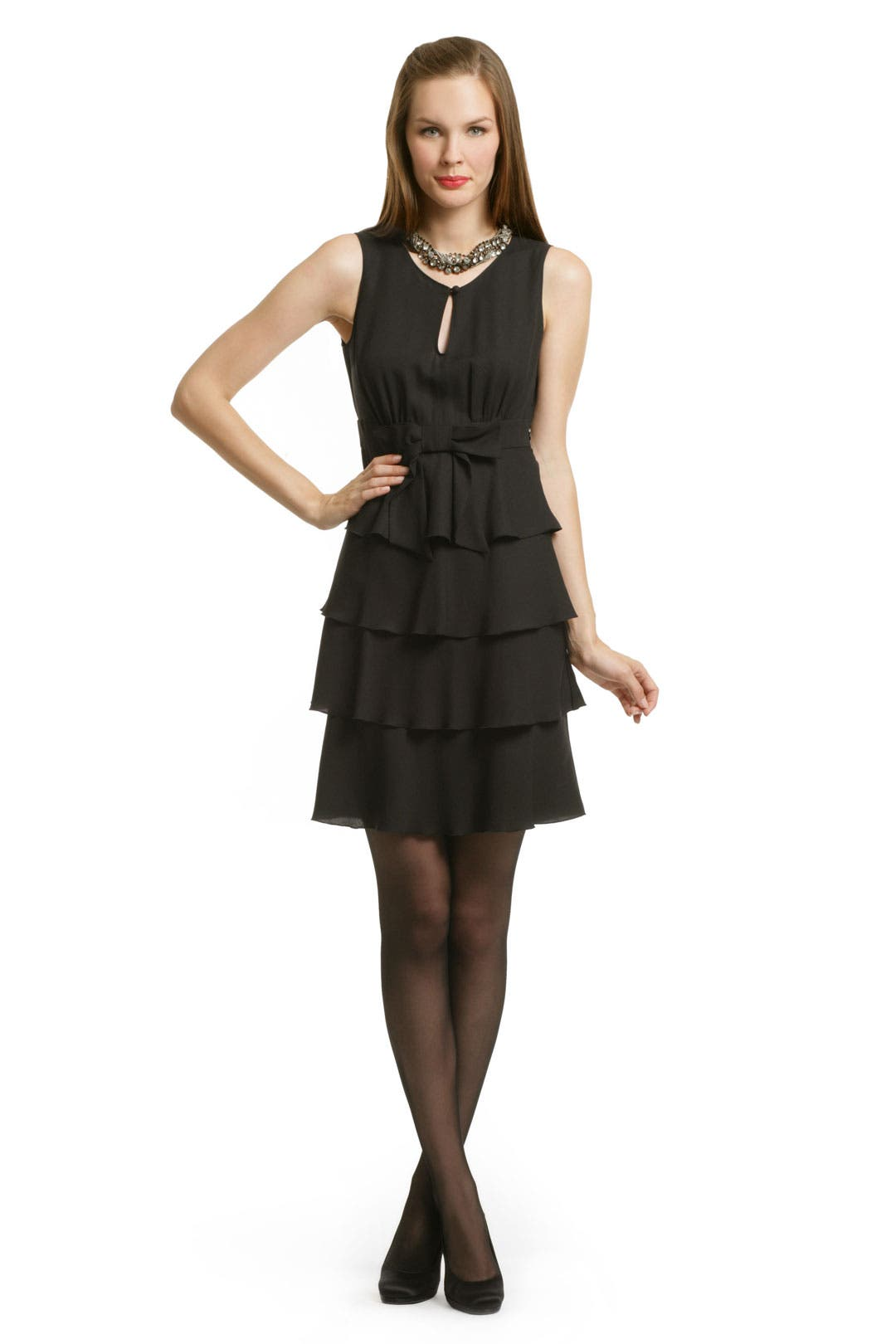 Black Bow Tiered Dress by Moschino Cheap And Chic