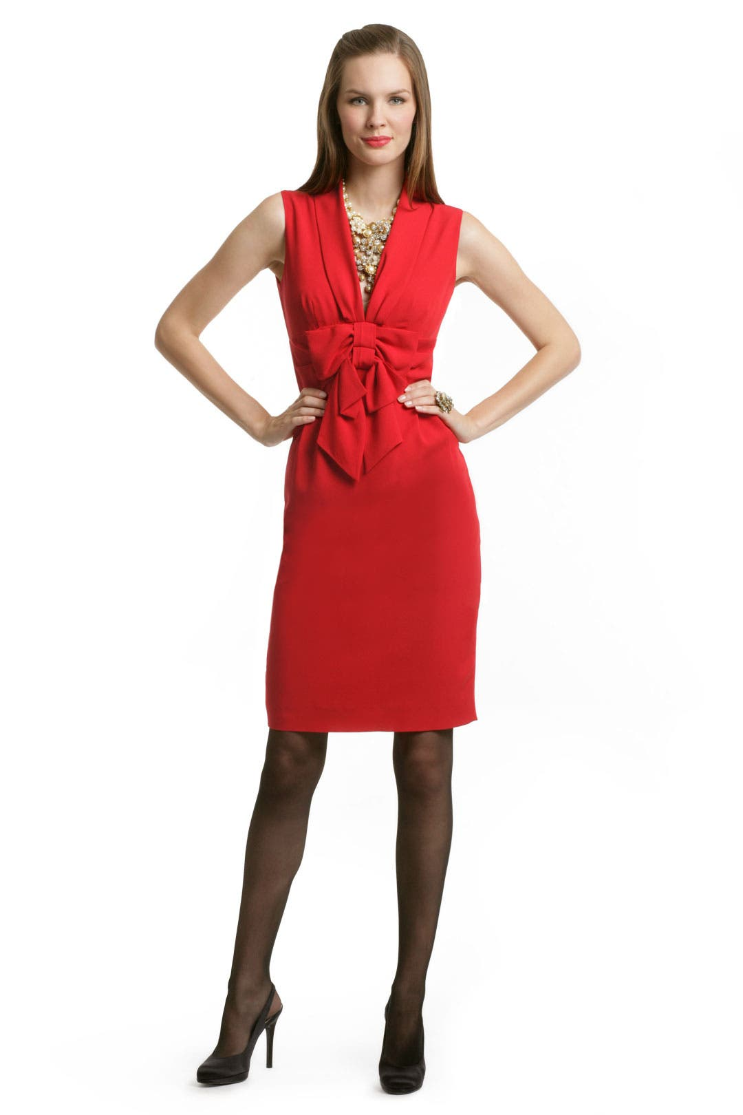 Red Double Bow Dress by Moschino Cheap And Chic