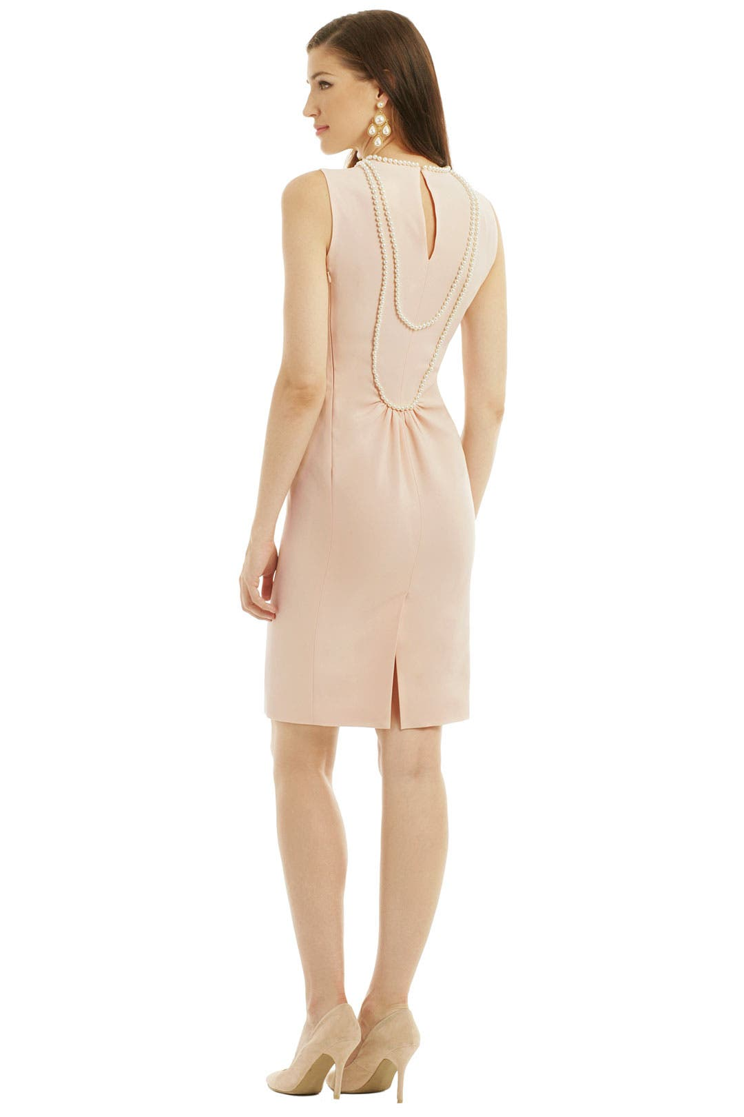Pearl Draped Sheath by Moschino