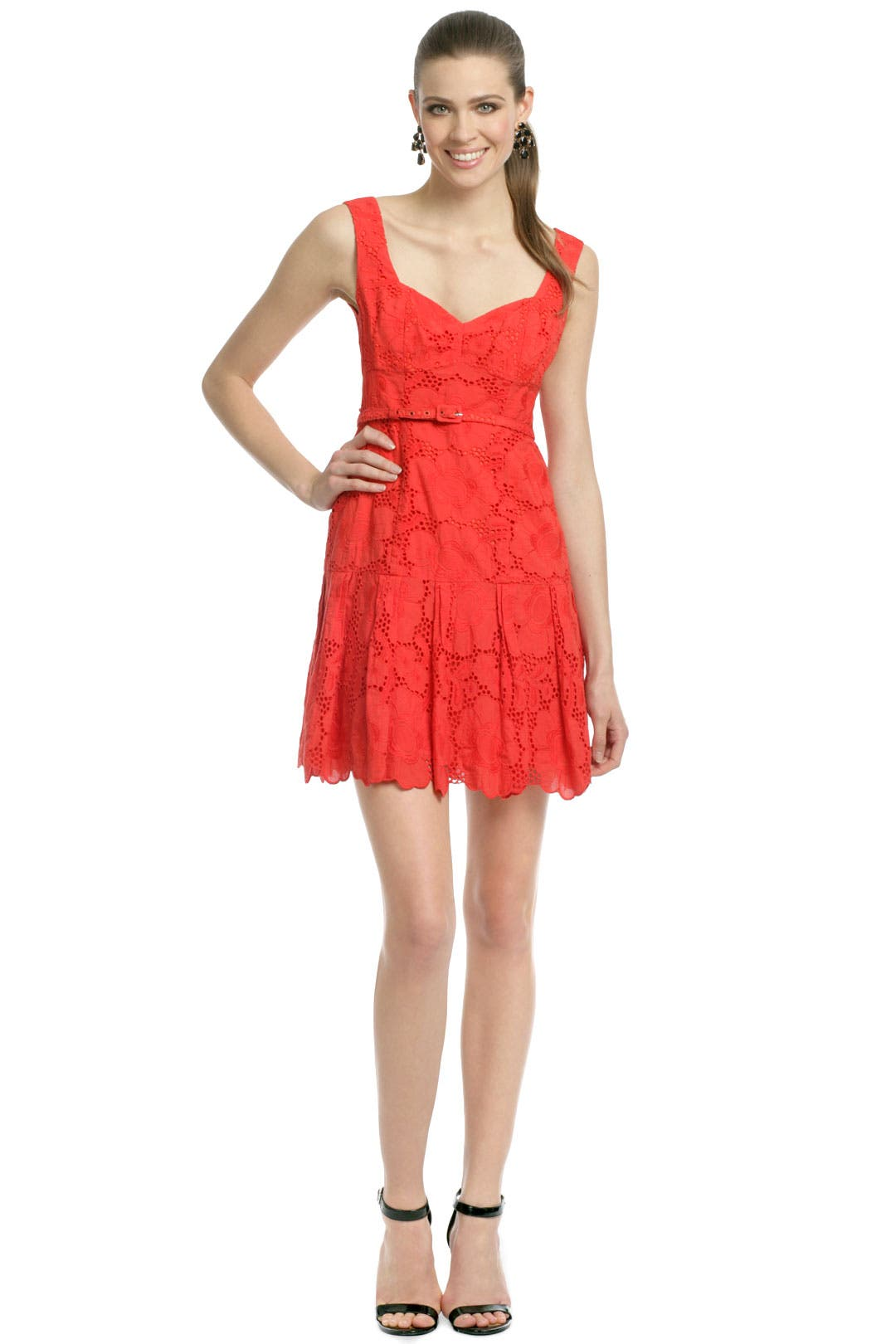 Red Daisy Love Dress by Nanette Lepore