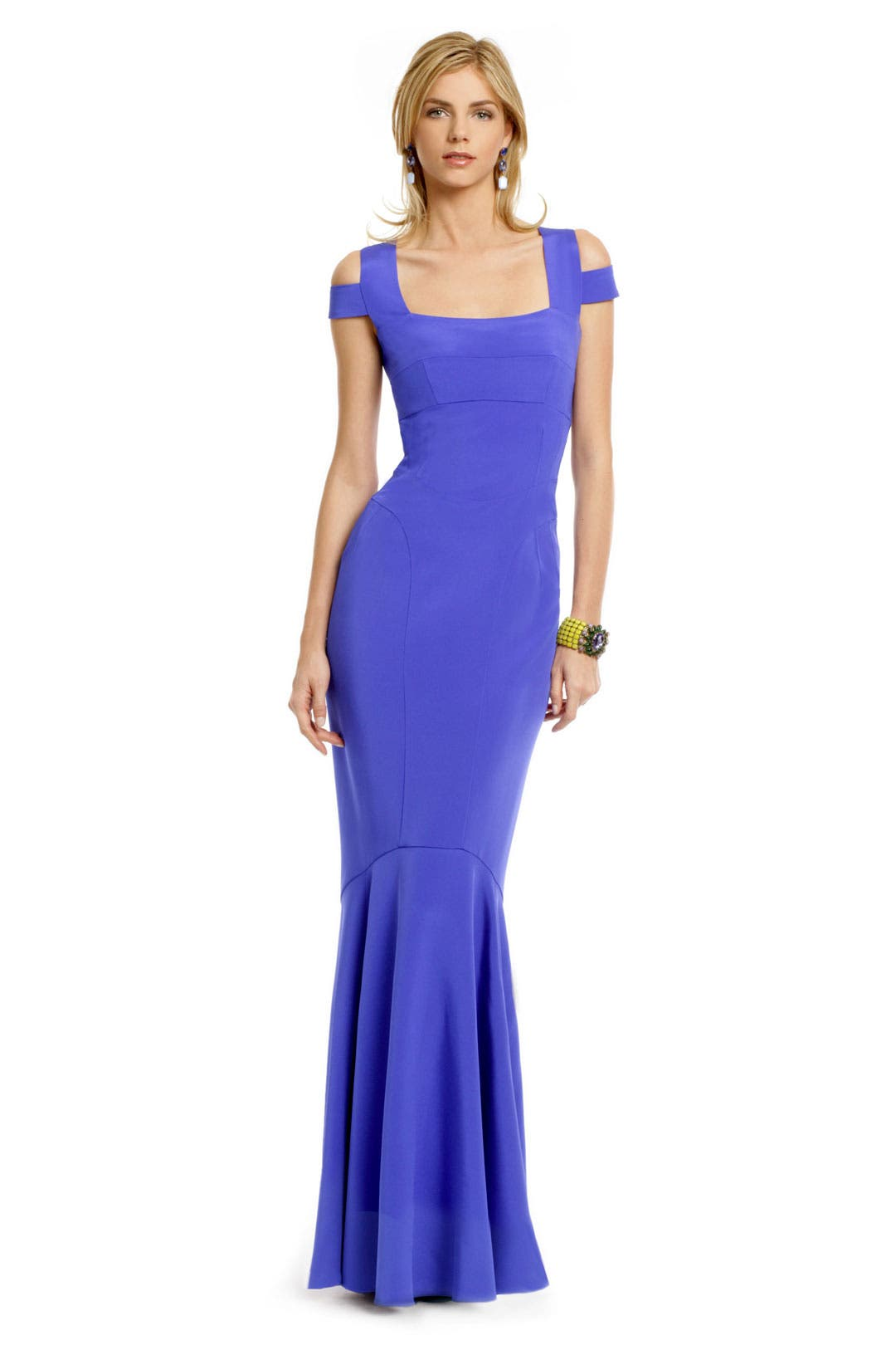 Cobalt Cutout Gown by Narciso Rodriguez
